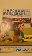 24.10.92 Wycombe Wanderers v Witton Albion programme Vauxhall Conference