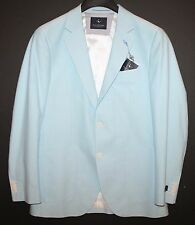 TailorByrd Mens Pacific Blue Cotton Blazer Sports Coat Jacket NWT $395 36 R