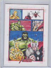2012 Marvel Greatest Heroes Avengers Sketch by George Calloway  AWESOME