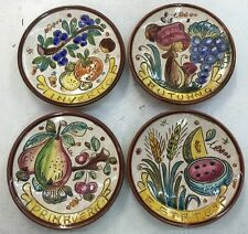 Deruta pottery:4 Plates Of 6 Inch-4 Season.Made/Painted by hand in Italy