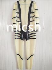 Latex Rubber Gummi Ganzanzug Catsuit Anzug Kostüm Transparent Tights Size XS-XXL