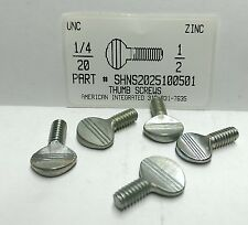 1/4-20x1/2 Thumb Screws Without Shoulder Steel Zinc Plated (15)