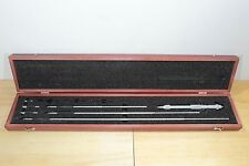 New Starrett Metric Vernier Rod Inside Micrometer Set 200mm-800mm / 0.01mm