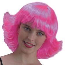 Perruque rose Meg [2327] carnaval soirée fetes cheveux rose deguisement costume