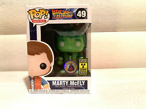 Funko Pop! Marty McFly Plutonium GID LE3000 IN HAND Free Ship Free Pop Protector