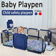 Baby Playpen 12 Panel Toddler Foldable Safety Play Center Yard Fence Indoor Gift