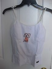 TONY STEWART #20 HOME DEPOT RACING LADIES TANK TOP WHITE SIZE SMALL NEW W/TAG
