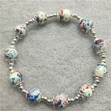 Wholesale brand new fashion glass beaded petal alloy beads bracelet  DIY