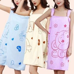 Women Soft Microfiber Bath Towel Quick Dry Wearable Towel Bathing Beach Skirt