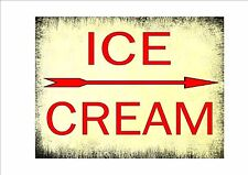 Vintage Style Ice Cream Shop Sign Ice Cream Retro Style Sign Kitchen Sign