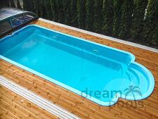 Fiberglass swimming pool polyester pools inground outdoor Solaris 7,10 x 3,10 m!