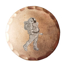 Astronaut Golfer Forged Copper Golf Ball Marker by Sunfish
