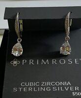 Primrose New On Card Sterling Silver Cubic Zirconia Earrings