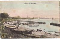 DANEMARK old postcard UDSIGT TIL HELSINGOR TO CAYEUX SUR MER YEAR 1917