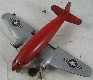 Vintage 1940's Press Steel Plane US Marx #4