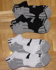 PUMA Men ANKLE BLACK WHITE SOCKS SZ 10-13 NWT 1Pair