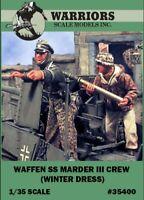Warriors 1:35 Waffen SS Marder III Crew Winter Dress 2 Resin Figures Kit #35400
