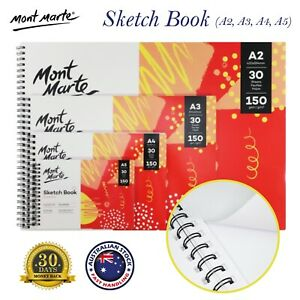 Mont Marte Sketch Book A2 A3 A4 A5 Art Painting Drawing Pad 30 Sheets 150gsm