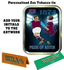 PERSONALISED ASTON VILLA  RETRO  TOBACCO TIN 2oz GIFT ROLLING BACCY