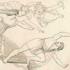 Les Eumenides Mythologie Enfers Eschyle John Flaxman gravure 19e