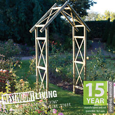 New Wooden PRESSURE TREATED Garden Rustic Rose Arch Trellis Archway