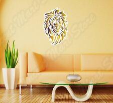 "Gold Lion Tribal King Cat Pet Animal Wall Sticker Room Interior Decor 16""X25"""