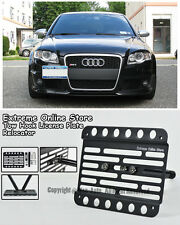 For 06-08 Audi B7 A4 S4 RS4 Front Bumper Tow Hook License Plate Mount Bracket
