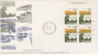 CANADA #594 10¢ LANDSCAPE DEFINITIVES - FOREST UR PLATE BLOCK FIRST DAY COVER