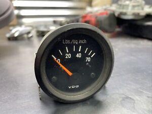 VDO oil pressure gauge orange needle Volkswagen Audi Porsche Cabriolet