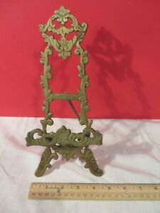 Vintage Ornate Victorian Picture Art Book Easel Stand 9 inches Tall