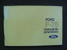 Ford F-75 - Brasilien - Betriebsanleitung / manual do proprietário 06.1973