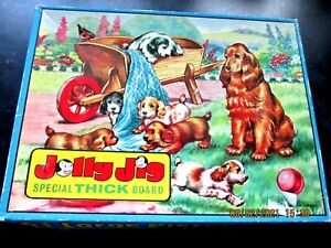 Vintage 1950s Jolly Jig The Puppies Playtime Special Thick Board Complete Rare