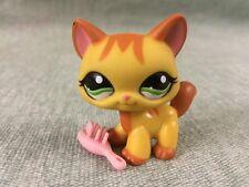 Littlest Pet Shop LPS Yellow & Orange Walking Tabby Cat  #1137
