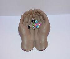 piercing  Nombril langue billes x 8 uv néon  1.6x6 mm cb322