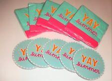 Target Dollar Spot Matching Napkins and Coasters Set YAY SUMMER Picnic X10 NEW