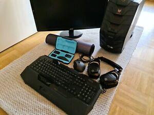 Gaming PC + Monitor+ Zubehör/ Acer Predator G3-710/ Samsung LCD ...