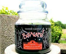 "Yankee Candle Retired Halloween ""BEWARE"" 12.5 -14.5 oz MEDIUM ~ Patchouli ~ RARE"