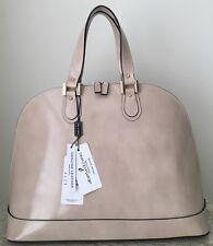 NWT Alberta DiCanio Italy Leather Sahara beige Bugatti bag purse spazzolato