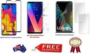 Full cover tempered glass Screen protector / Pet Film for LG V30 Plus V40 Q7