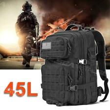 45L Waterproof Military Tactical Backpack Assault Army Molle Outdoor Hiking Bag