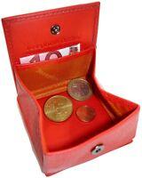 Leder Geldbörse CENT - Rot - m. Wiener Schachtel Portemonnaie Geldbeutel Münzbox