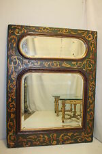 Venetian Style Italian  Decorative Hand Painted Mantel Wall Mirror circa 19th.