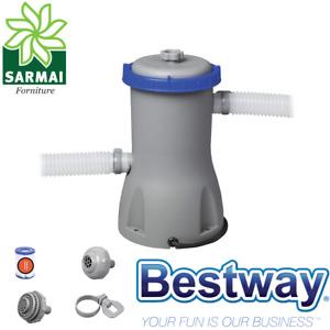 POMPA filtro per piscina BestWay 58386 Flowclear 3028 l/h completa di cartuccia