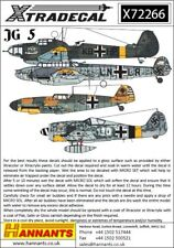 Xtradecal 1/72 Luftwaffe JG 5 Escadron Histoire # 72266