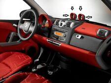 Smart Car Fortwo Speedometer Clock Gauges Pod Ornamental Cover Rings Bezel Trim