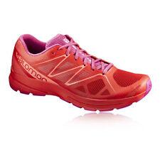 Chaussures de fitness, athlétisme et yoga rouge Salomon pour femme