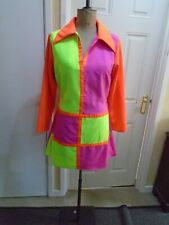 ladies 60s dress  multi colour dress   Large  size