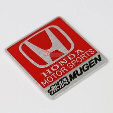 Red Honda Motor Sports Mugen Square Badge Decal Sticker Emblem For Honda Acura
