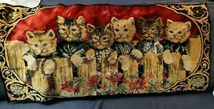 """Vintage Cat Tapestry variety of 6 Kittens 40"""" x  20"""" Wall Hanging Decor Rug,"""