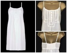 NEW Ex MARKS SPENCER LA MAISON WHITE STRAPPY LACE COTTON NIGHTDRESS NIGHTIE 8-22
